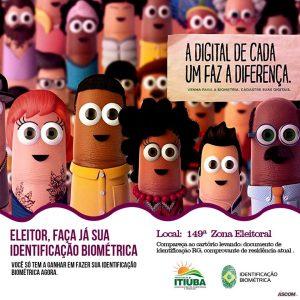 ITIÚBA: CADASTRO DA BIOMETRIA ELEITORAL JÁ ESTÁ DISPONÍVEL NO MUNICÍPIO